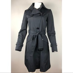 Zara Women's Blue Trench Coat XS